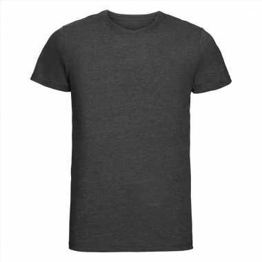 Antraciet heren t-shirts met ronde hals
