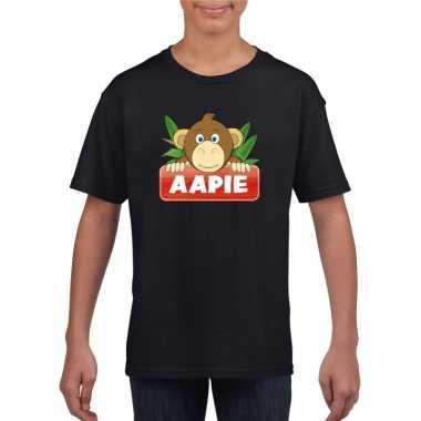 Apen dieren t-shirt zwart voor kinderen