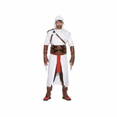 Assassijn kostuum wit voor heren
