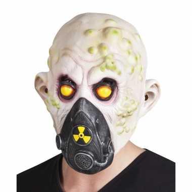 Atoombom slachtoffer halloween/horror masker van latex
