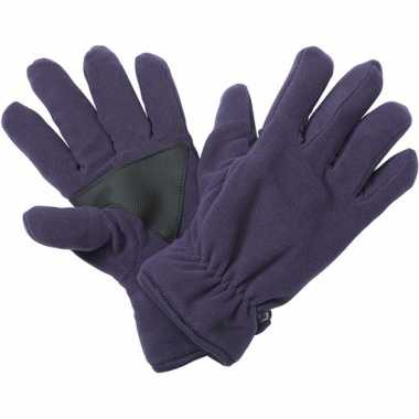 Aubergine fleece handschoenen van het merk thinsulate