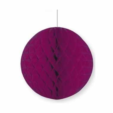 Aubergine papieren kerstbal 10 cm