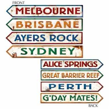 Australie plaatsnaamborden decoraties
