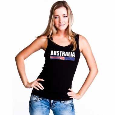 Australie supporter mouwloos shirt/ tanktop zwart dames