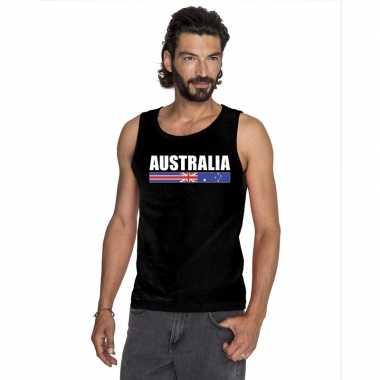 Australie supporter mouwloos shirt/ tanktop zwart heren