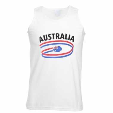 Australie tanktop voor heren met vlaggen print