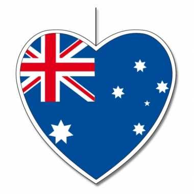 Australisch decoratie hart 14 cm