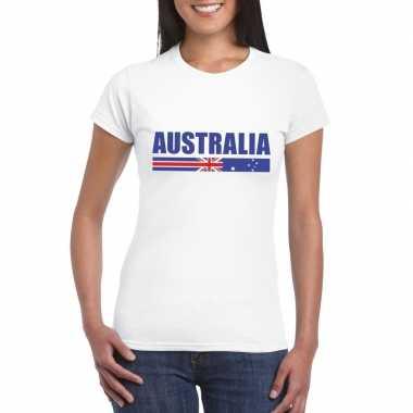 Australische supporter t-shirt wit voor dames