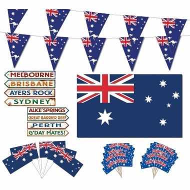 Australische vlag decoraties versiering pakket xl
