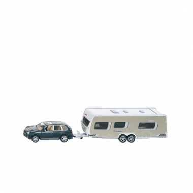 Auto en caravan met bewegende onderdelen