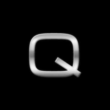 Auto sign sticker letter q 2,5 cm