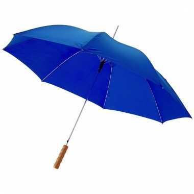 Automatische blauwe paraplu 82 cm