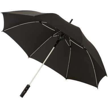 Automatische zwart/witte stormparaplu 58 cm