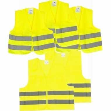 Autopech reflecterend vestje/hesje 2x volwassenen/3x kinderen