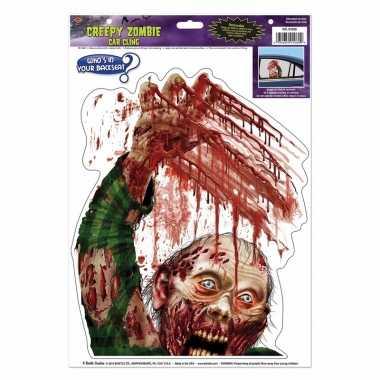Autoraamsticker zombie met bloed