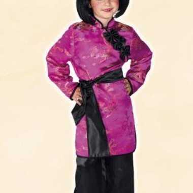 Aziatisch meisjes kostuum roze