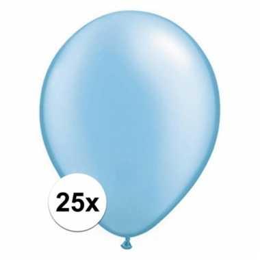 Azure blauwe qualatex ballonnen 25 stuks