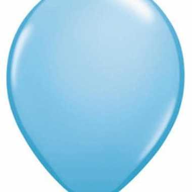 Ballonnen lichtblauw qualatex