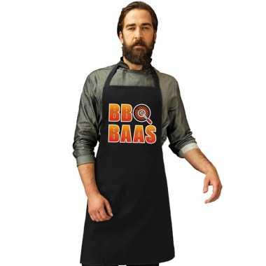 Barbecueschort bbq baas zwart heren
