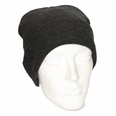Basis wintermutsen grijs voor dames
