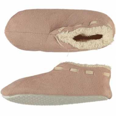 Beige spaanse sloffen/pantoffels stippen voor meisjes maat 33-34