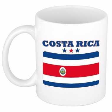 Beker / mok met vlag van costa rica 300 ml