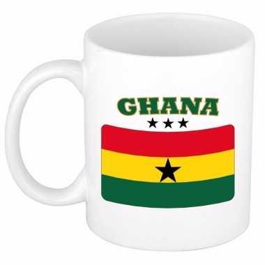 Beker / mok met vlag van ghana 300 ml