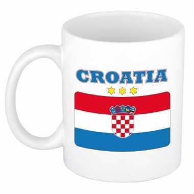 Beker / mok met vlag van kroatie 300 ml