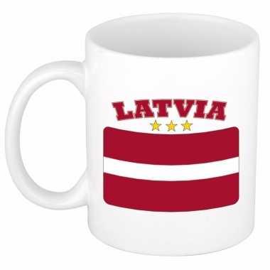 Beker / mok met vlag van letland 300 ml