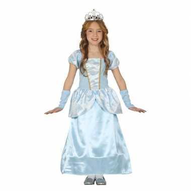Blauw prinsessenjurkje voor meisjes