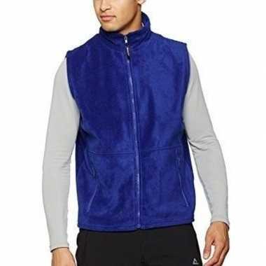Blauwe fleece bodywarmer werkkleding voor volwassenen