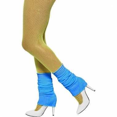 Blauwe verkleed beenwarmers