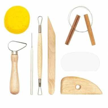 Boetseergereedschap 8-delig klei gereedschappen