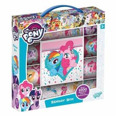 Box met 1000 my little pony stickers