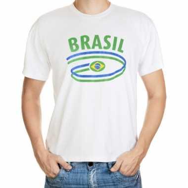 Brazilie t-shirt met vlaggen print