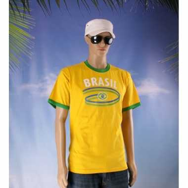 Brazilie thema shirt brasil voor heren