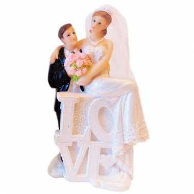 Bruiloftstaart poppetjes love type 2