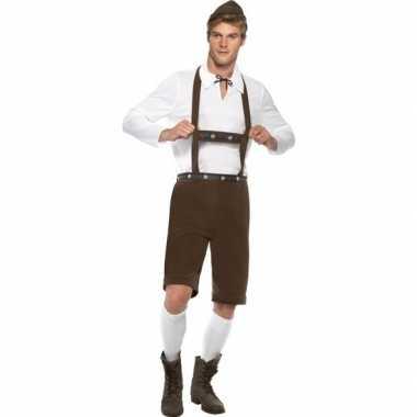 Bruine tiroler verkleedkleding voor heren