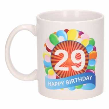 Cadeau 29 jaar mok / beker ballon thema