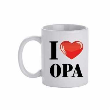 Cadeau i love opa koffiemok / beker 300 ml