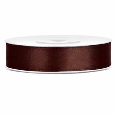 Cadeaulint bruin 12 mm