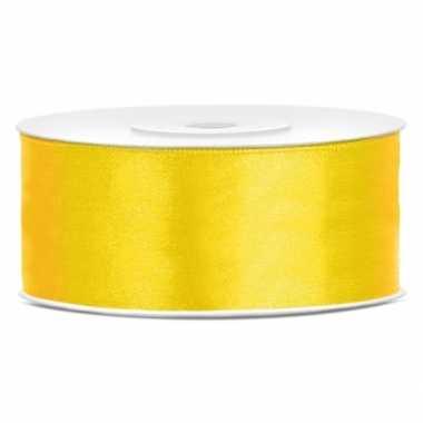 Cadeaulint geel 25 mm