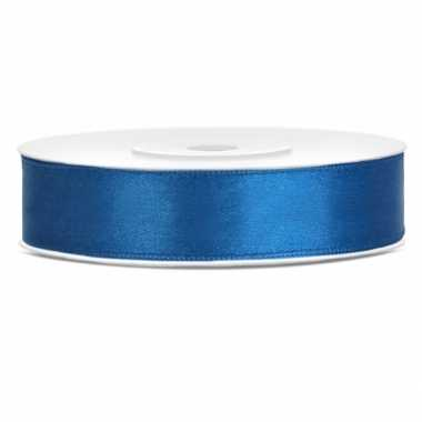 Cadeaulint kobalt blauw 12 mm