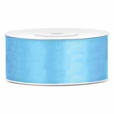 Cadeaulint lichtblauw 25 mm
