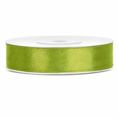 Cadeaulint lime groen 12 mm
