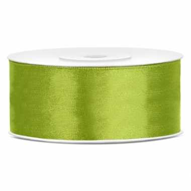 Cadeaulint lime groen 25 mm