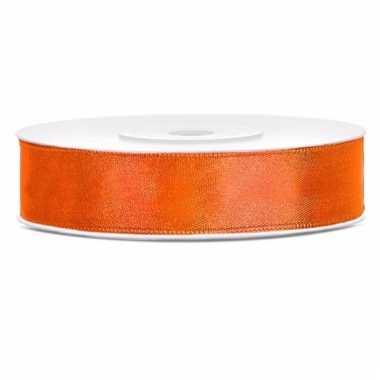 Cadeaulint neon oranje 12 mm