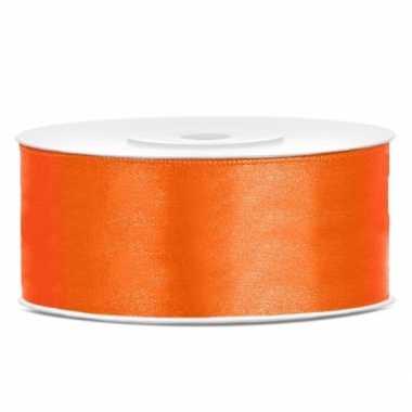 Cadeaulint oranje 25 mm