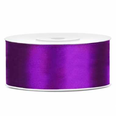 Cadeaulint paars 25 mm