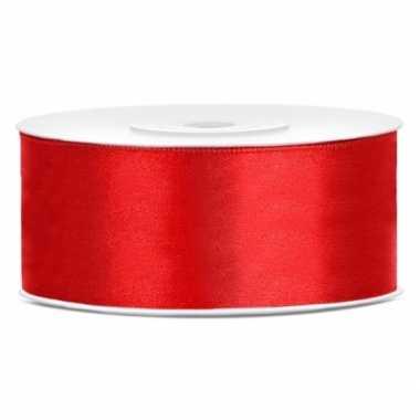 Cadeaulint rood 25 mm